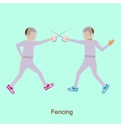 Sport people activities icon Fencing vector image vector image