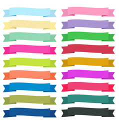 sweet color ribbon banners on white background vector image