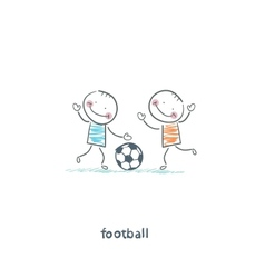 The boys are playing football vector image vector image
