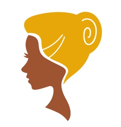 cameo woman silhouette vector image vector image