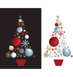 Christmas tree baubles vector image vector image