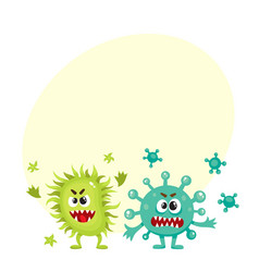 couple of virus germ bacteria microorganism vector image vector image