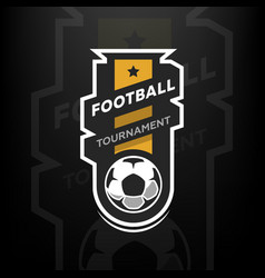 football tournament logo vector image vector image