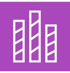 Striped Bars vector image vector image