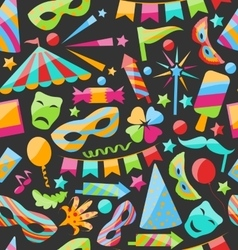 Carnival Seamless Texture with Colorful Cirsus vector image vector image