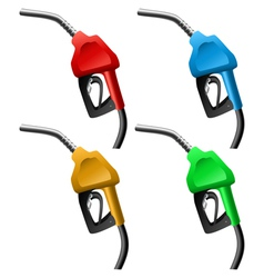Fuel nozzle set vector image