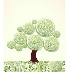 Hand drawn ornate swirl tree vector