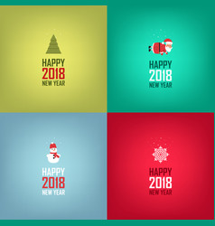 happy new year cards design set of cards banners vector image vector image