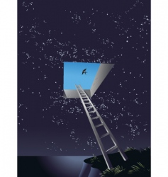 Ladder to heaven vector