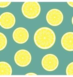 lemon background seamless pattern vector image vector image