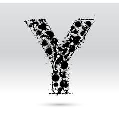 Letter Y formed by inkblots vector image