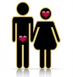 male-female symbol of love vector image vector image