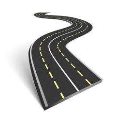 Abstract asphalt road vector image