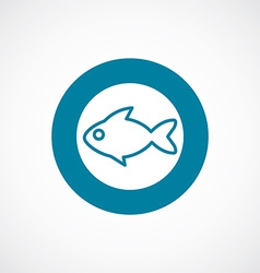 fish icon bold blue circle border vector image vector image