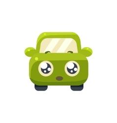 Hopeful Green Car Emoji vector image vector image
