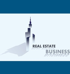 real estate business grey vector image vector image