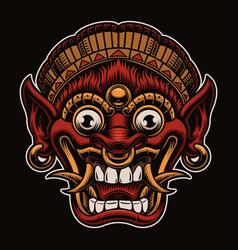 A traditional bali mask vector