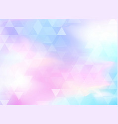 Abstract colorful triangles pattern vector