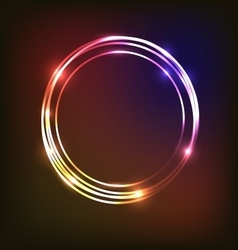 Abstract neon background with circles vector