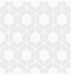 Abstract seamless pattern of bold hexagons vector