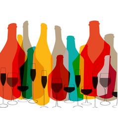 Alcoholic bar menu color vector