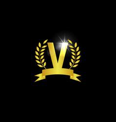 alphabet logo icon template vector image