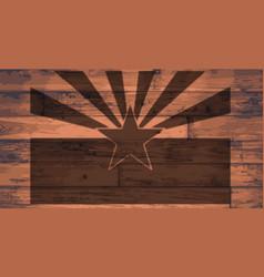 Arizona state flag brand vector