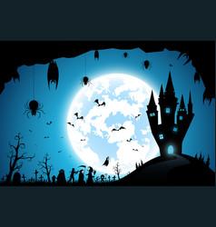 Backgroundfestival halloweenfull moon on dark vector