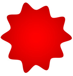 Badge star burst shape with blank space vector