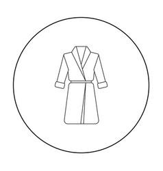bathrobe icon of for web and vector image