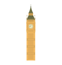 Big ben tower history architecture vector