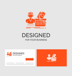 business logo template for salary shopping basket vector image