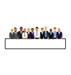 Business men in a line vector