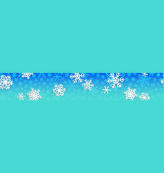christmas banner with white snowflakes vector image