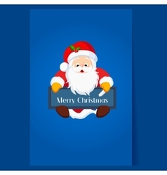 Christmas Santa Claus holding a Chalkboard vector image