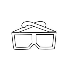 Cinema 3d glasses vector