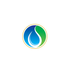 circle waterdrop logo vector image