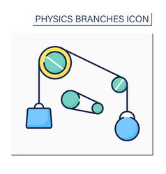 Classical physics color icon vector