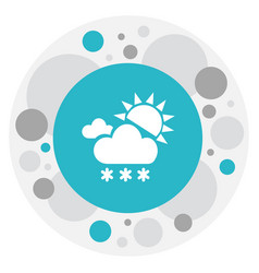 Climate symbol on snowing vector
