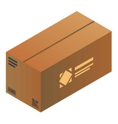 closed parcel icon isometric style vector image