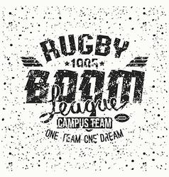 College rugby team emblem vector image