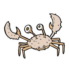 Comic cartoon crab vector