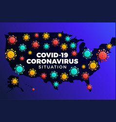 Covid19-19 usa map confirmed cases cure deaths vector