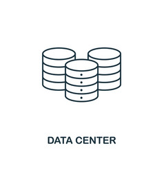data center outline icon thin line style from big vector image