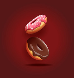 Delicious donuts vector