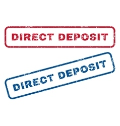 Direct Deposit Rubber Stamps vector