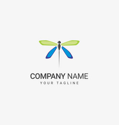 Dragonfly logo template vector