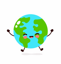 earth planet character hand vector image