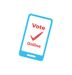 electronic voting remote voting through the vector image