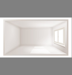 empty room white wall plastic window vector image